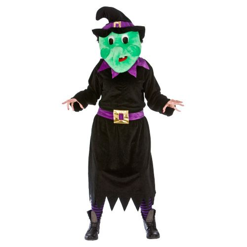 Adult Deluxe Mini Mascot Costume for Animals Creatures Fancy Dress Mens Ladies Wicked Witch